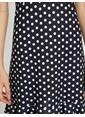 Koton Puantiyeli Mini Elbise Lacivert